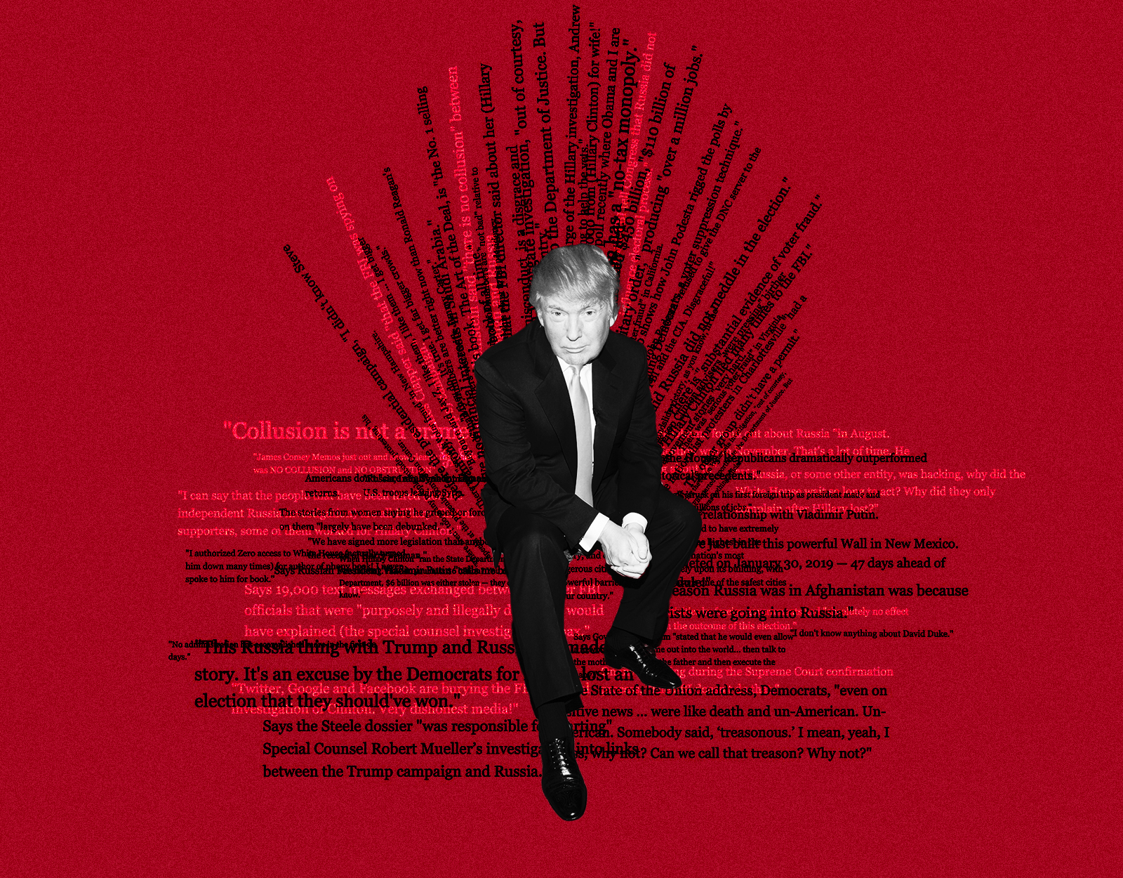 Trump Sits on a Throne of Lies