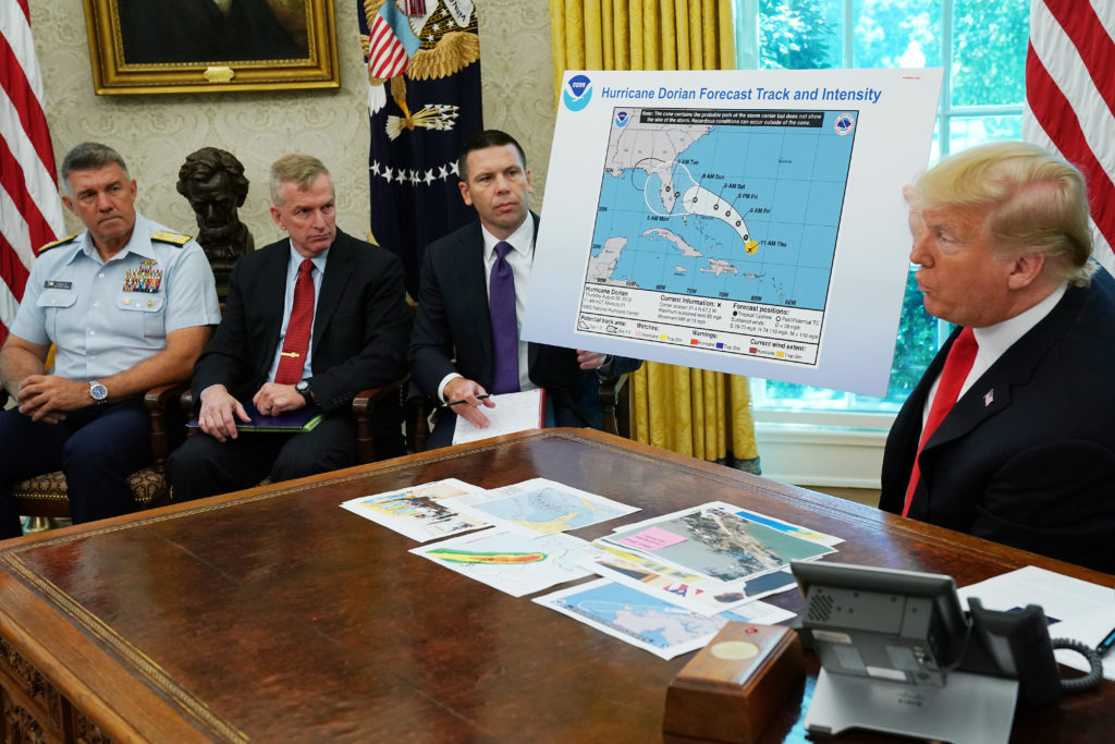 On Hurricane Dorian, Trump gave reality a little touch-up