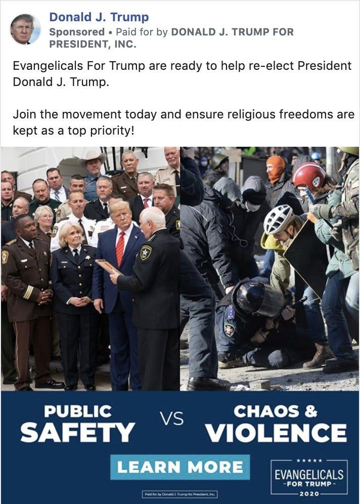 Trump Law'n Order ad